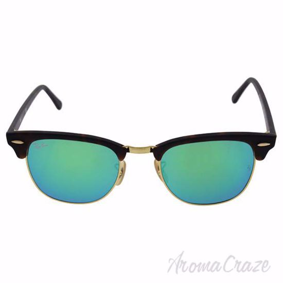 Ray Ban RB 3016 Clubmaster 1145/19 - Tortoise/Green Flash by