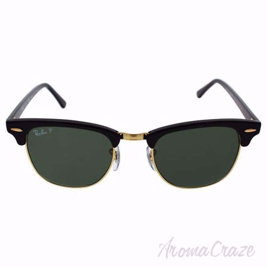 Ray Ban RB 3016 Clubmaster 901/58 - Black/Green Polarized by