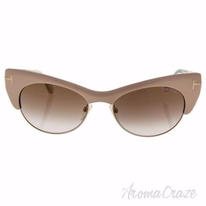 Tom Ford FT0387 74G Lola - Pink Gold/Brown Gradient by Tom F