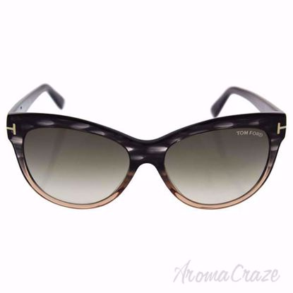 Tom Ford FT0430 Lily 20P - Grey/Gradient Green by Tom Ford f