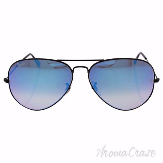 Picture of Ray Ban RB 3025 Aviador Large Metal 002/4O - Black/Blue by Ray Ban for Unisex - 62-14-140 mm Sunglasses