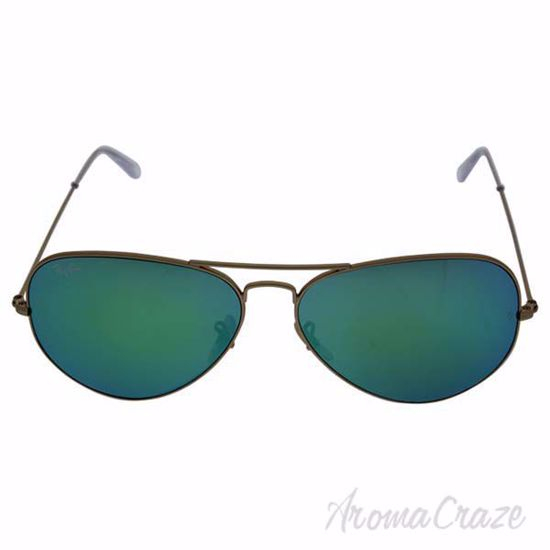 Picture of Ray Ban RB 3025 Aviator Large Metal 112/19 - Gold/Green Flash by Ray Ban for Unisex - 62-14-140 mm Sunglasses