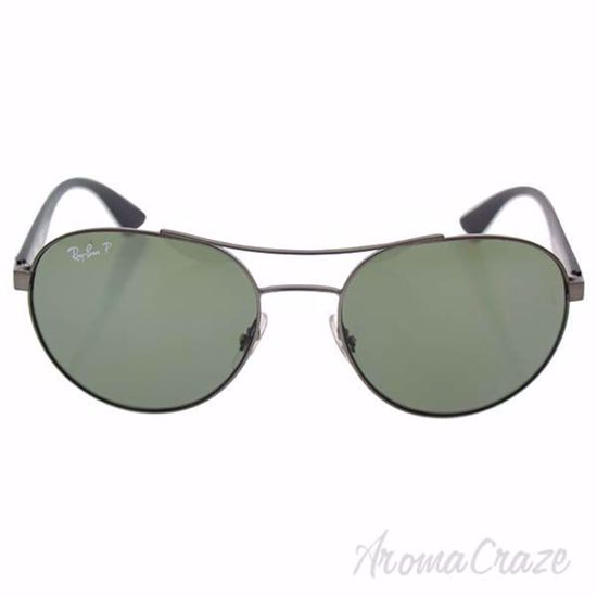 Picture of Ray Ban RB 3536 029/9A - Matte Gunmetal/Black Green Classic Polarized by Ray Ban for Men - 55-18-145 mm Sunglasses