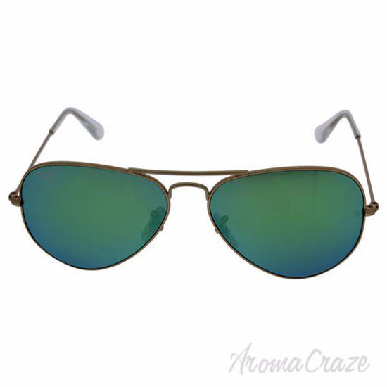 Ray Ban RB 3025 Aviator Large Metal 112/P9 - Gold/Green Flas