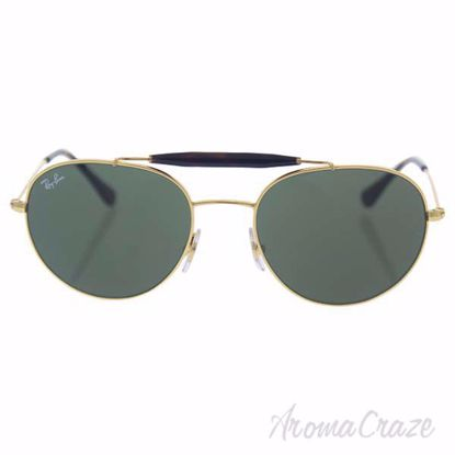 Ray Ban RB 3540 001 - Gold/Green by Ray Ban for Unisex - 53-