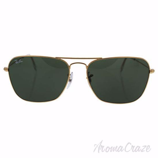 Ray Ban RB 3136 001 Caravan - Gold/Green by Ray Ban for Men