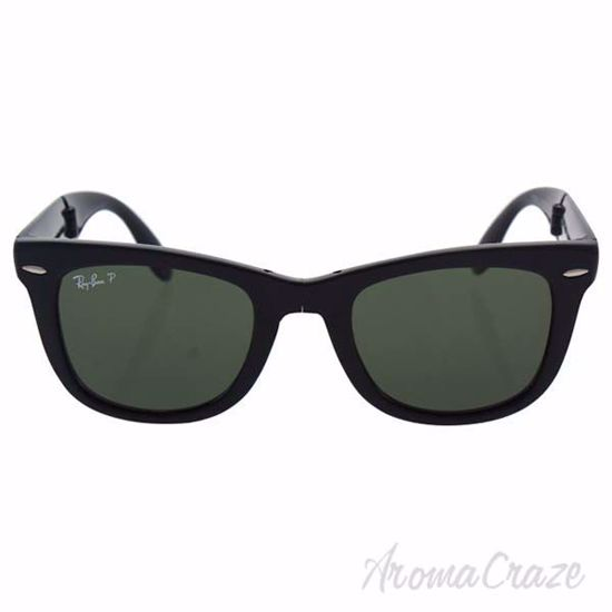 Picture of Ray Ban RB 4105 601/58 Folding Wayfarer - Black/Green Polarized by Ray Ban for Unisex - 50-22-140 mm Sunglasses