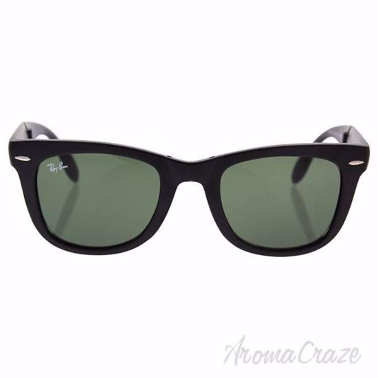 Ray Ban RB 4105 601-S Folding Wayfarer - Black Matte/Green b