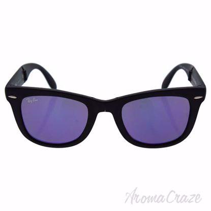 Ray Ban RB 4105 601S/1M Folding Wayfarer - Black/Violet Mirr