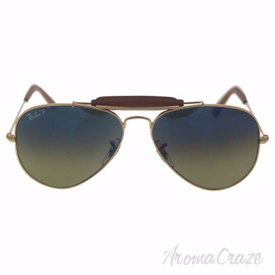 Picture of Ray Ban RB 3422-Q 001/M9 - Gold/Green Polarized by Ray Ban for Men - 58-14-135 mm Sunglasses