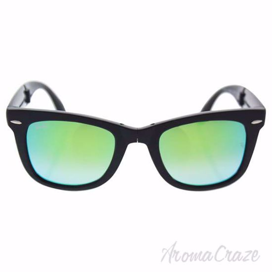 Picture of Ray Ban RB 4105 6069/4J Wayfarer - Black/Green Gradient Flash by Ray Ban for Unisex - 50-22-140 mm Sunglasses