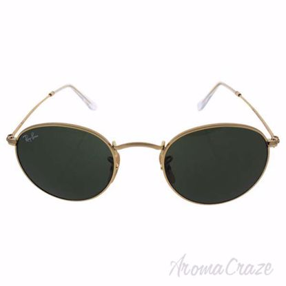 Ray Ban RB 3447 001 Round Metal - Gold/Green by Ray Ban for