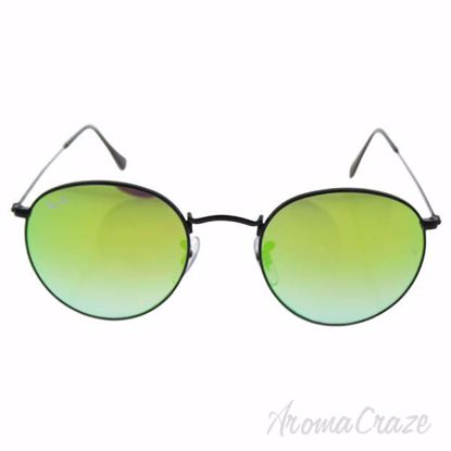 Ray Ban RB 3447 002/4J Round Metal - Black/Green Gradient by