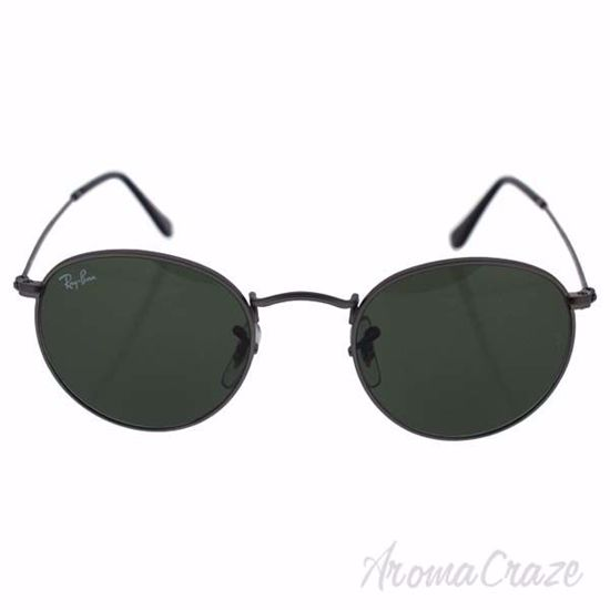 Picture of Ray Ban RB 3447 029 Round Metal - Matte Gunmetal/Crystal Green by Ray Ban for Unisex - 47-21-140 mm Sunglasses