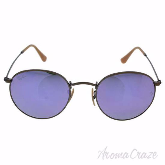 Picture of Ray Ban RB 3447 167/4K Round Metal - Bronze Copper/Lilac by Ray Ban for Unisex - 50-21-145 mm Sunglasses