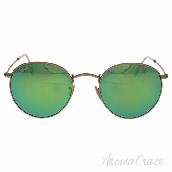 Picture of Ray Ban RB 3447 Round Metal 112/P9 - Gold/Green Polarized by Ray Ban for Unisex - 50-21-145 mm Sunglasses
