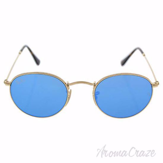 Picture of Ray Ban RB 3447-N 001/90 - Gold Shiny/Blue by Ray Ban for Men - 47-21-140 mm Sunglasses