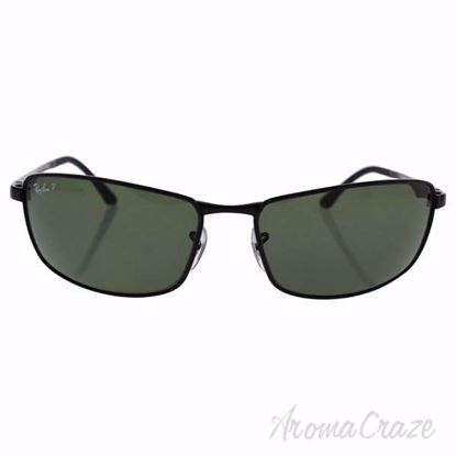 Ray Ban RB 3498 002/9A - Black/Green Polarized by Ray Ban fo