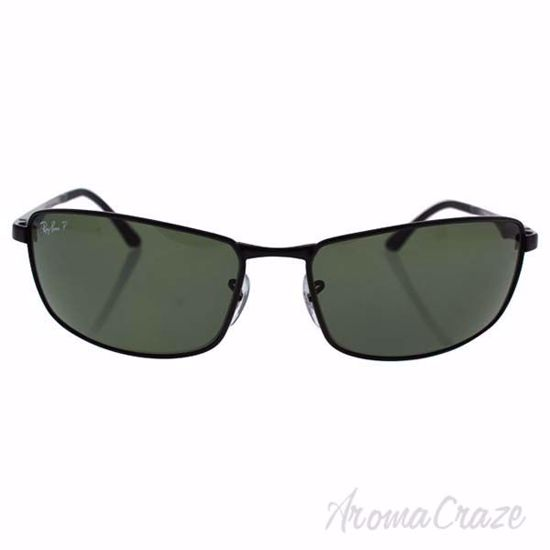 Picture of Ray Ban RB 3498 002/9A - Black/Green Polarized by Ray Ban for Men - 64-17-135 mm Sunglasses
