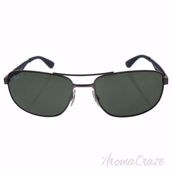 Picture of Ray Ban RB 3528 029/9A - Gunmetal/Green Classic G-15 Polarized by Ray Ban for Men - 58-17-145 mm Sunglasses