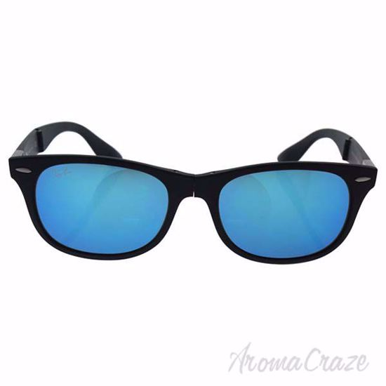 Picture of Ray Ban RB 4223 601-S/55 New Wayfarer - Black/Blue by Ray Ban for Unisex - 55-18-150 mm Sunglasses