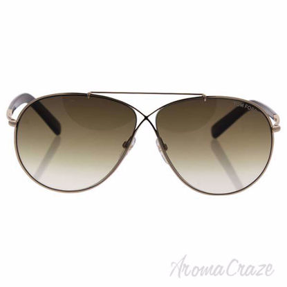 Tom Ford TF374 28F Eva - Shiny Gold Brown/Brown Gradient by