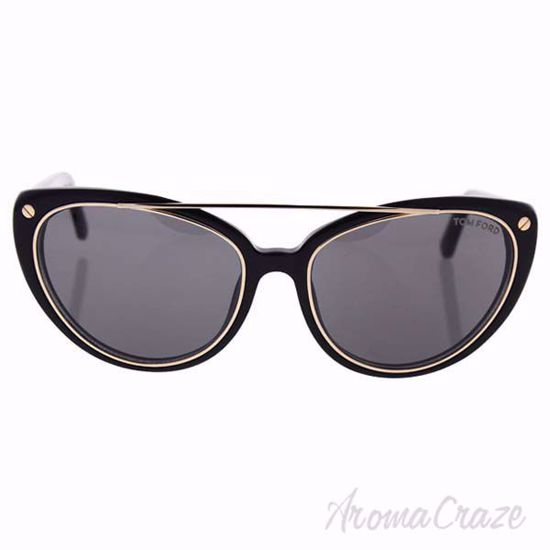 Tom Ford TF384 01A Edita - Shiny Black/Smoke by Tom Ford for
