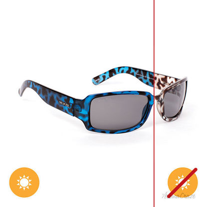 Picture of Solize Island in the Sun - Tortoise-Blue by DelSol for Women - 1 Pc Sunglasses