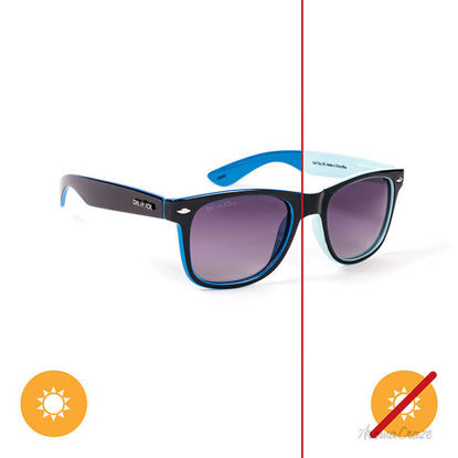 Picture of Solize Surf City - Light Blue-Blue by DelSol for Unisex - 1 Pc Sunglasses