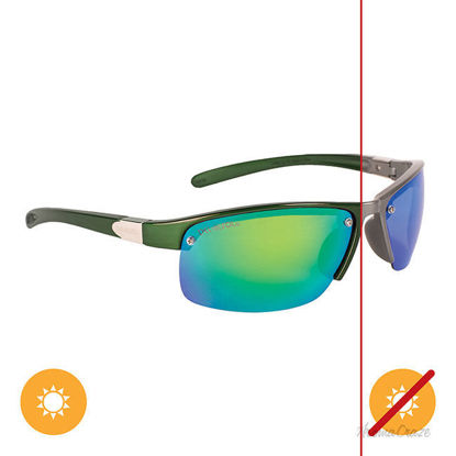 Picture of Solize In My Car - Charcoal-Green by DelSol for Unisex - 1 Pc Sunglasses