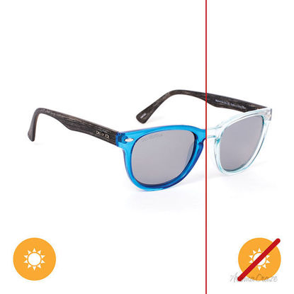 Picture of Solize Beyond the Sea - Clear-Blue by DelSol for Unisex - 1 Pc Sunglasses