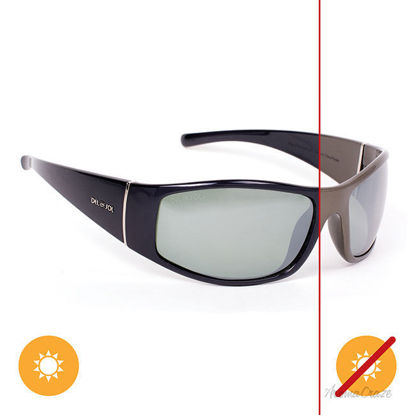 Picture of Solize King of the Road - Charcoal-Ebony by DelSol for Unisex - 1 Pc Sunglasses