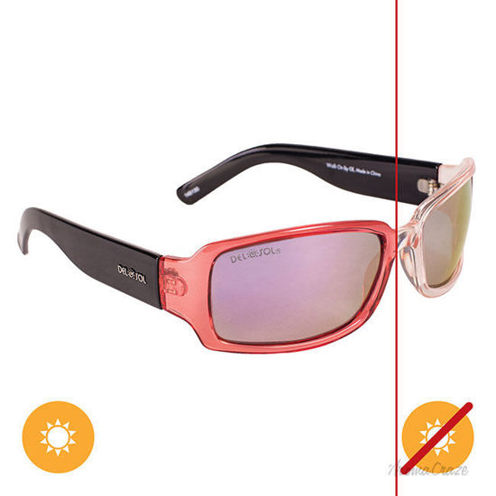 Picture of Solize Walk on By - Clear-Pink by DelSol for Unisex - 1 Pc Sunglasses