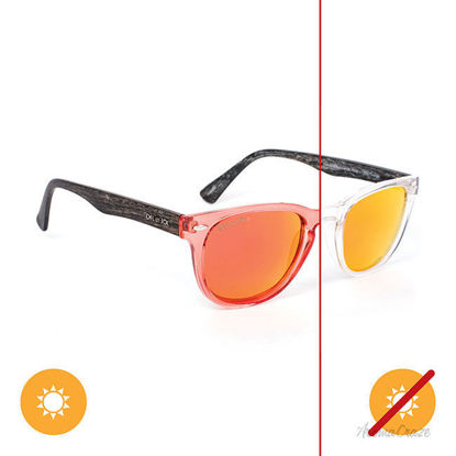 Picture of Solize Halfway to Paradise - Clear-Orange by DelSol for Unisex - 1 Pc Sunglasses