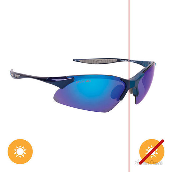 Picture of Solize Wherever I Go - Metallic Blue-Midnight Blue by DelSol for Unisex - 1 Pc Sunglasses