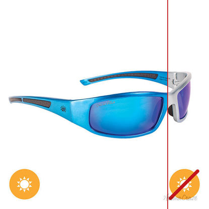 Picture of Solize With Me Tonight - Silver-Blue by DelSol for Unisex - 1 Pc Sunglasses