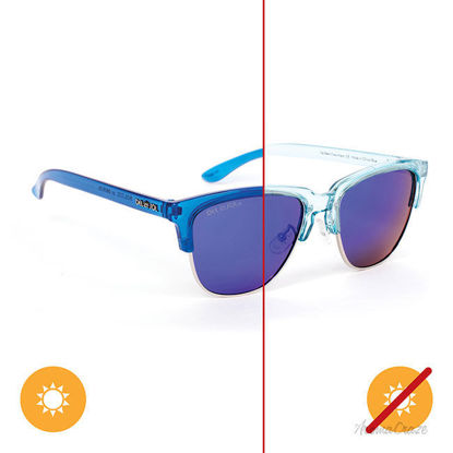 Picture of Solize Ive Been Everywhere - Clear-Blue by DelSol for Unisex - 1 Pc Sunglasses
