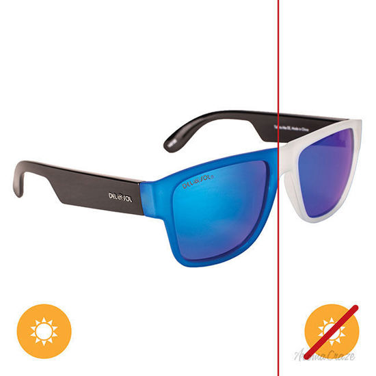Picture of Solize Talk To Me - Clear-Blue by DelSol for Unisex - 1 Pc Sunglasses