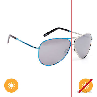 Picture of Solize Paradise Found - Silver-Blue by DelSol for Unisex - 1 Pc Sunglasses
