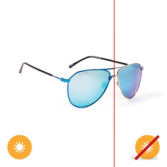 Picture of Solize Stand By Me - Silver-Blue by DelSol for Unisex - 1 Pc Sunglasses