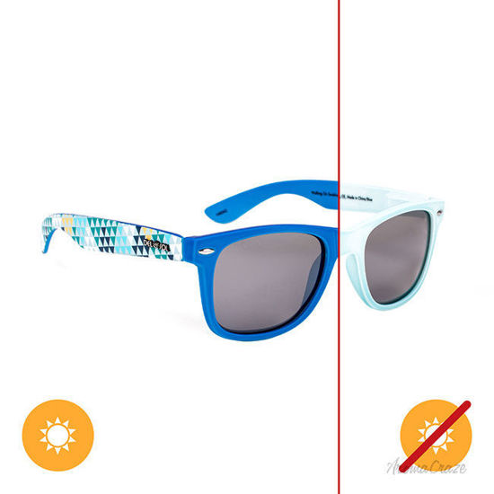 Picture of Solize Walking on Sunshine -  White-Blue by DelSol for Unisex - 1 Pc Sunglasses