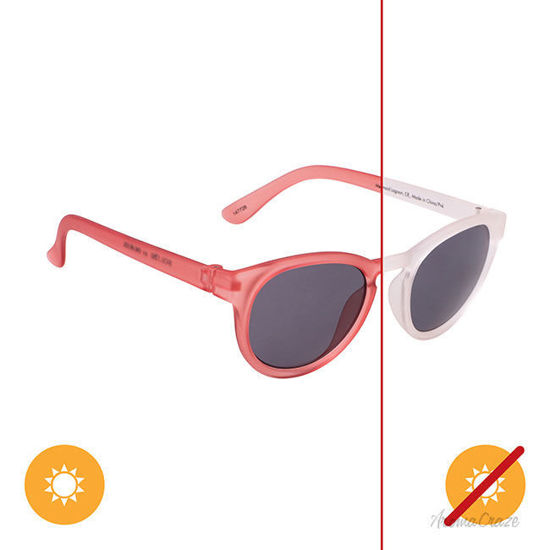 Picture of Solize Mermaid Lagoon - Clear-Pink by DelSol for Kids - 1 Pc Sunglasses