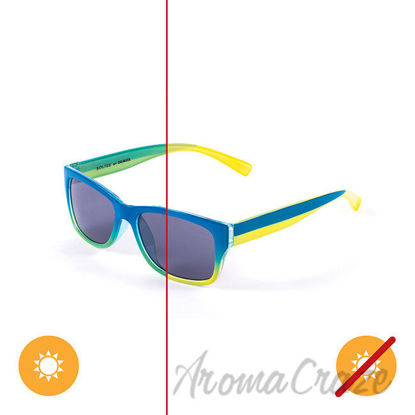 Picture of Kids Solize Hello Summer - Blue and Yellow to Green by DelSol for Kids - 1 Pc Sunglasses