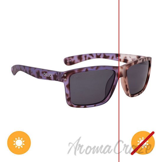 Picture of Solize Just Like Paradise - Clear Tortoise to Purple by DelSol for Unisex - 1 Pc Sunglasses
