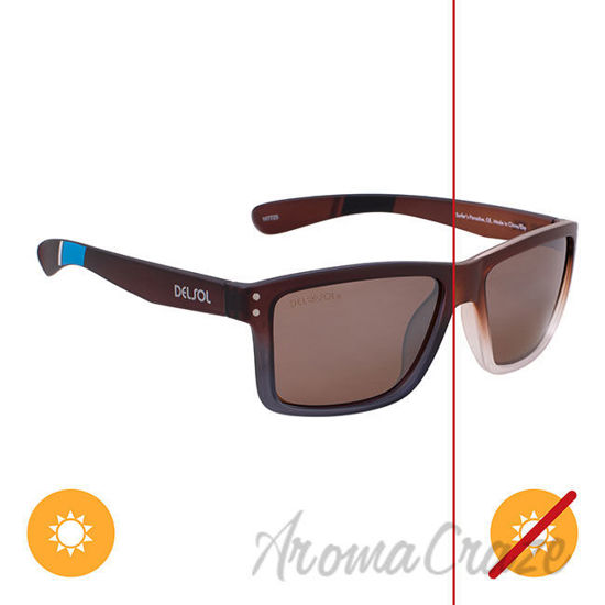 Picture of Solize Surfers Paradise - Brown to Ebony by DelSol for Unisex - 1 Pc Sunglasses