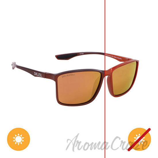 Picture of Solize Last Time Around - Metallic Orange to Brown by DelSol for Unisex - 1 Pc Sunglasses