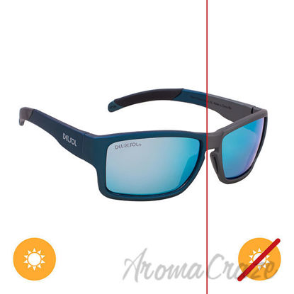 Picture of Solize Never Gonna Leave - Charcoal to Blue by DelSol for Unisex - 1 Pc Sunglasses