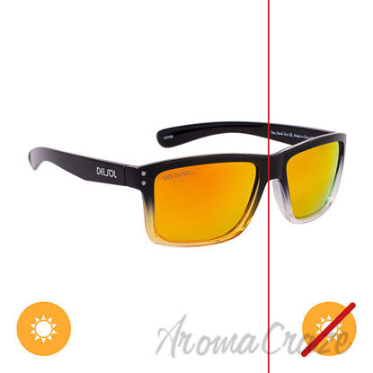 Picture of Solize Sea Sand Sun - Black and Clear to Yellow by DelSol for Unisex - 1 Pc Sunglasses