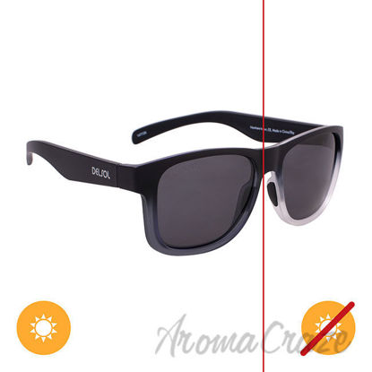 Picture of Solize Nowhere to Run - Black and Clear to Ebony by DelSol for Unisex - 1 Pc Sunglasses