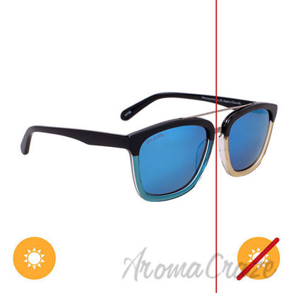 Picture of Solize Who Loves the Sun - Black and Clear to Blue by DelSol for Unisex - 1 Pc Sunglasses